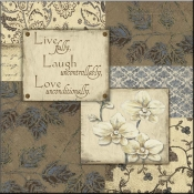 JM- Live Laugh Love III - Accent Tile