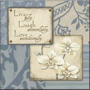 JM- Live Laugh Love IV - Accent Tile
