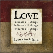 JP- Love Never Fails - Accent Tile