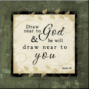 JP- Draw Near To God - Accent Tile