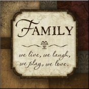 JP- Family We Live - Accent Tile