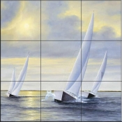 DR-Sailing to Serenity  - Tile Mural