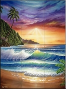 Colors of Paradise - JW - Tile Mural