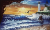 Enchanted Lighthouse - JW - Tile Mural