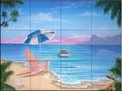 Exotic Beach - JW - Tile Mural