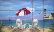 Exotic Lighthouse - JW - Tile Mural