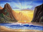 Mountain Sunrise - JW - Tile Mural
