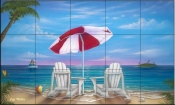 Exotic Vacation - JW - Tile Mural