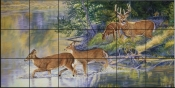 Autumn Crossing - CC - Tile Mural