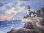 White Cliff Bay - DL - Tile Mural