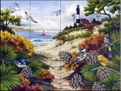 A Walk Through The Dunes - NW - Tile Mural