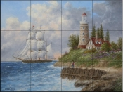 A Passing Voyager - DL - Tile Mural