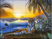 Tropical Tigers - CH - Tile Mural