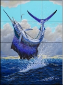 Sailfish-CC - Tile Mural