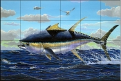 Yellow Fin Crash-CC - Tile Mural