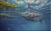 Prowling Marlin - DR - Tile Mural