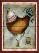 French Rooster IV - JG - Tile Mural