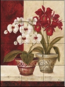 Japanese Orchid-Y - Tile Mural