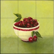 Bowl of Cherries - Y - Tile Mural