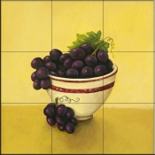 Bowl of Grapes - Y - Tile Mural