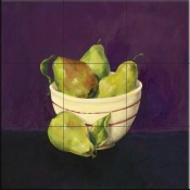 Bowl of Pears - Y - Tile Mural