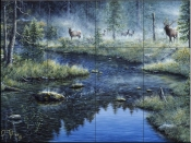 Misty Morning - JT - Tile Mural