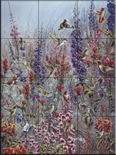 Garden Jewels - TA - Tile Mural