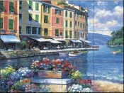 Reflections of Portofino - JZ - Tile Mural