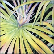 Palm Frond    - Tile Mural