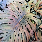 Philodendron Leaf    - Tile Mural