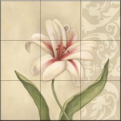 Cream Lily - DL - Tile Mural