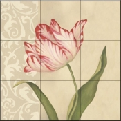 Cream Tulip - DL - Tile Mural