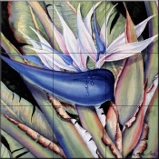 Giant Bird (of Paradise)    - Tile Mural