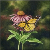 Coneflower Of Choice 2-DE - Tile Mural
