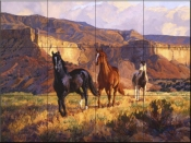 Canyon Sunrise - CG - Tile Mural