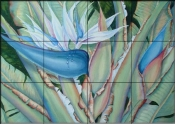 Tropical Beauty    - Tile Mural