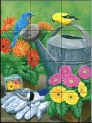 The Gardeners-FS - Tile Mural