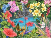 Tropical Pool-MT - Tile Mural