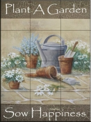 Sow Happiness-RB - Tile Mural