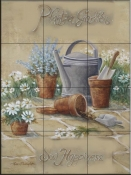 Sow Happiness II-RB - Tile Mural