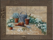 Sow Happiness III-RB - Tile Mural