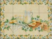 Lemonade with Border - RB - Tile Mural