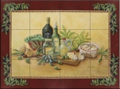 Tuscan Bounty with Border - RB - Tile Mural