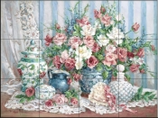 Roses and Romance - Tile Mural