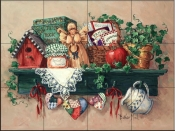 Country Shelf - BM - Tile Mural