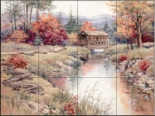 Blue Mountain River - BM - Tile Mural