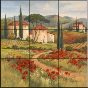 Tuscan Dream I-BM - Tile Mural