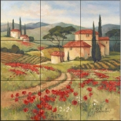 Tuscan Dream II-BM - Tile Mural