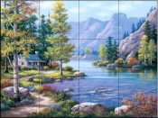 Lakeside Lodge - SK - Tile Mural