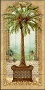 Palm Tree in Basket I - JK - Tile Mural
